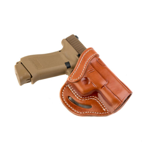 BL1P Belt Slide Holster Classic Brown Right Hand