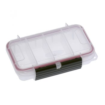 Waterproof Polypropylene 4 Compartment Clear Case 6.88x4.52xh1.85 inch MAX001T