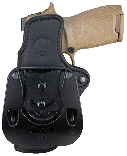 Paddle Holster Stealth Black Right Hand 2.4