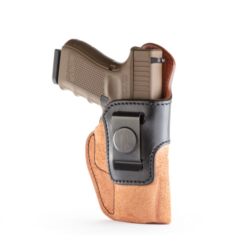 Rigid Concealment Holster Right Hand Brown on Brown Size 4