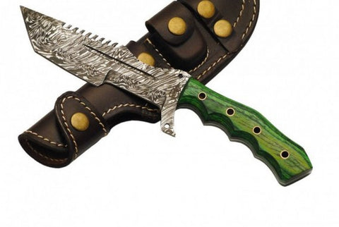 BNB DAMASCUS HULK TANTO TRACKER KNIFE