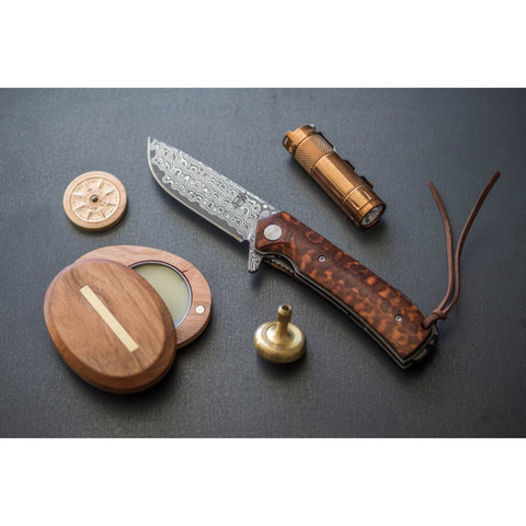 BNB SNAKEWOOD FLIPPER POCKET KNIFE