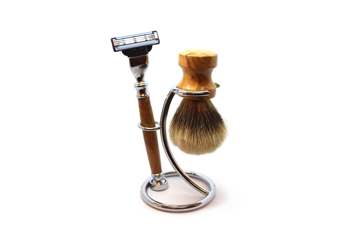 Olivetta Wooden Shaving Set