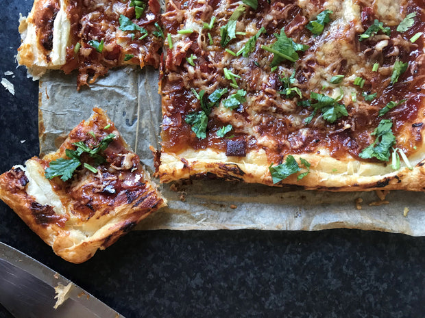 Caramelised Onion and Tomato Puff Pastry