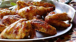 Hot Garlic Coated Chicken Wings