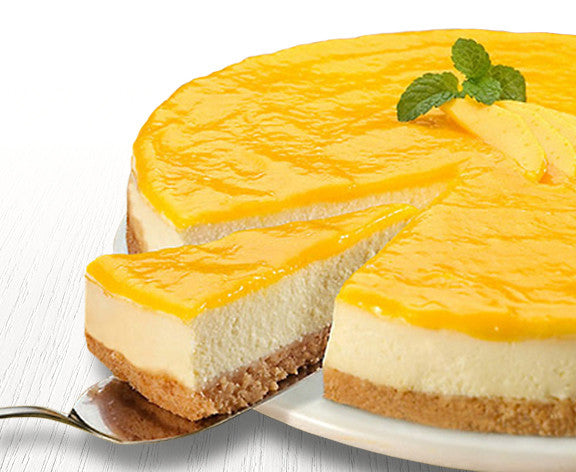 Non-Bake Passion Fruit Curd Cheesecake