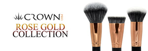 Crownbrush Crown Pro Rose Gold Vegan Makeup Brush Range