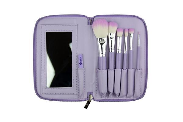 523 Purple HD Makeup Brush Set Crownbrush