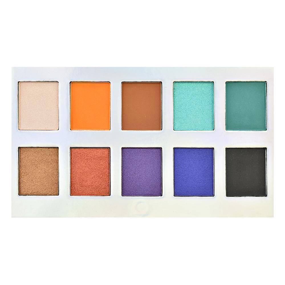 Crownbrush 10 Colour OMG Eyeshadow Palette Colours