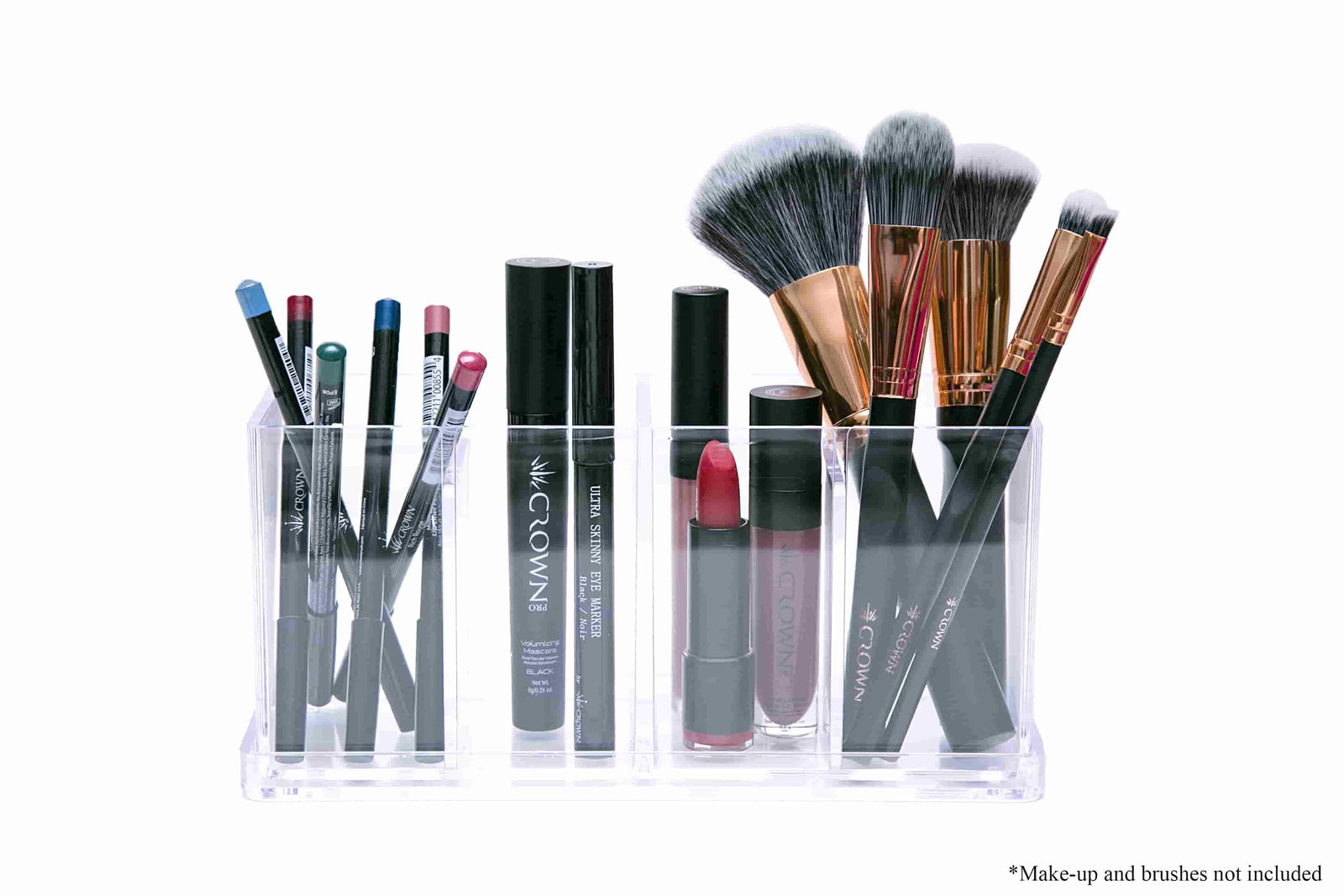 Beauty Organiser with products Crownbrush