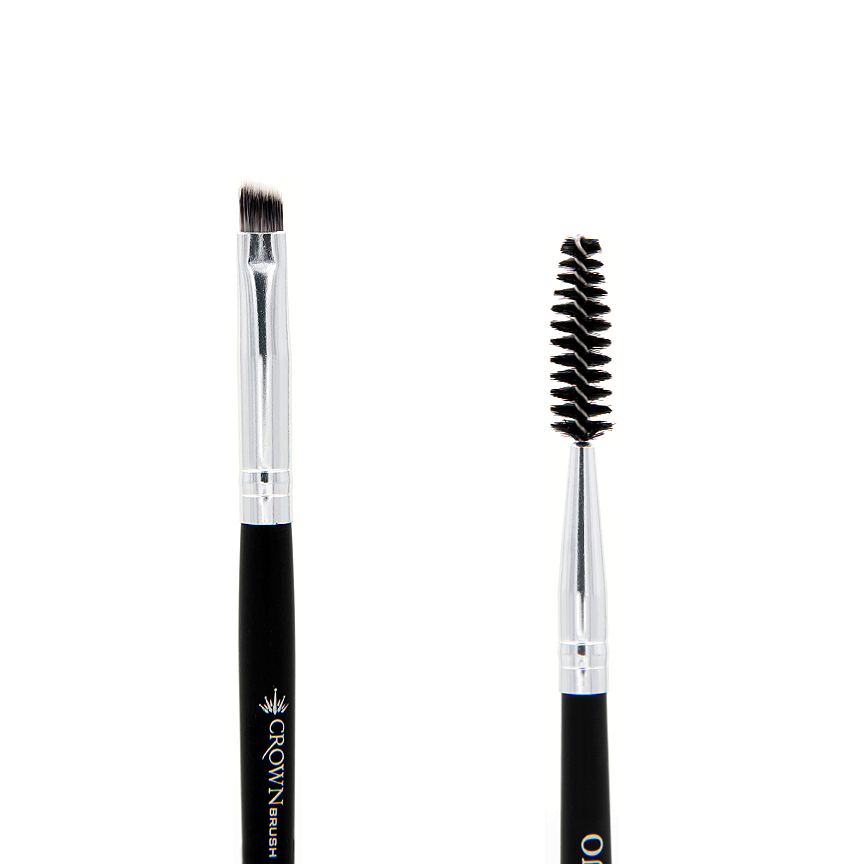 SS025 Syntho Brow Duo Brush - Crownbrush