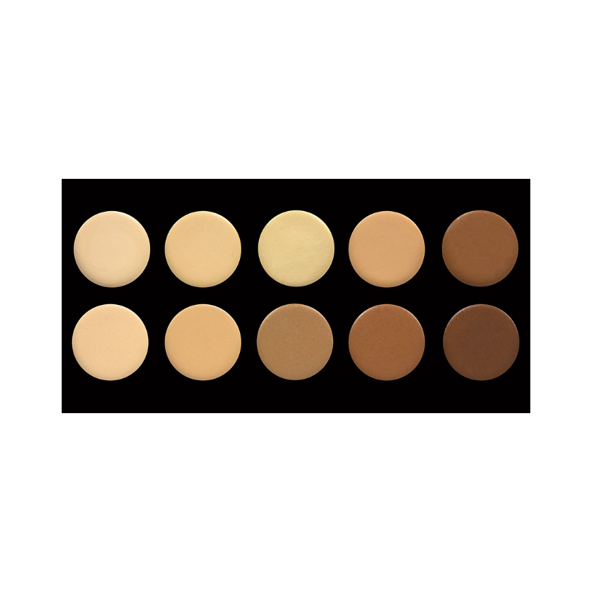 10 Colour Concealer Palette Crownbrush