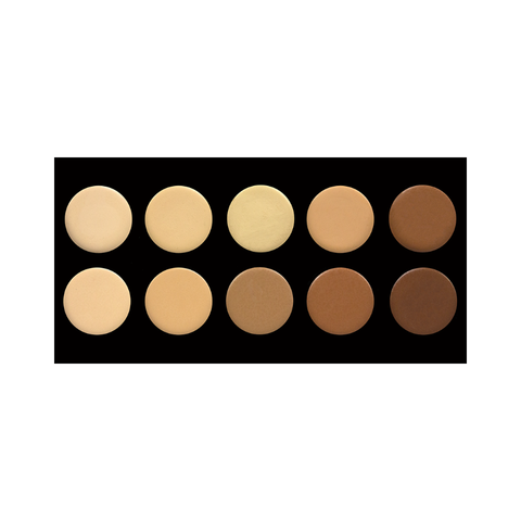 10 Colour Pressed Powder Contour Palette