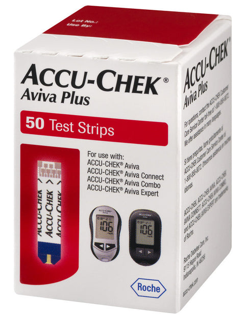 Accu-Chek Aviva Plus Test Strips - 50 Count (1 Box of 50)