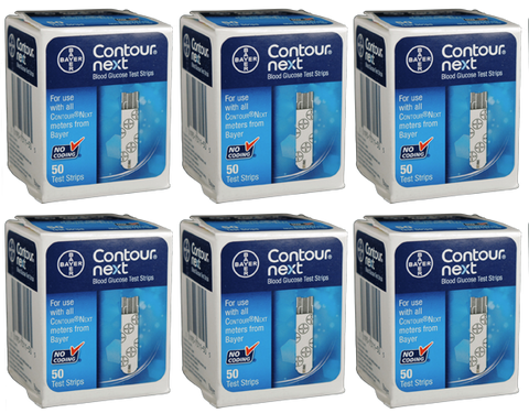 Bayer Contour Next Test Strips - 300 Count (6 Boxes of 50)