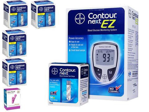 Bayer Contour Next Glucose Test Strips Starter Bundle - 250 Testing Strips!