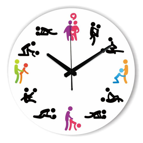 Kama Sutra Sex Position Wall Clock For Bedroom