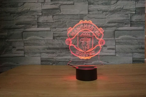 3D LED Night Light Manchester The Red Devils FC