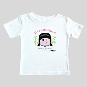 I'm a Little Maedel, Amish Bodysuit & Tee (girl)