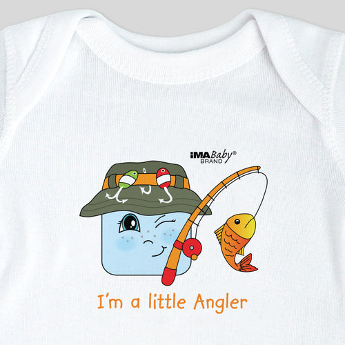 I'm a Little Angler Bodysuit & Tee (boy)