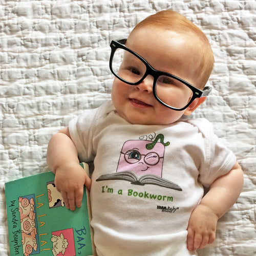 I'm a Bookworm Bodysuit & Tee (girl)