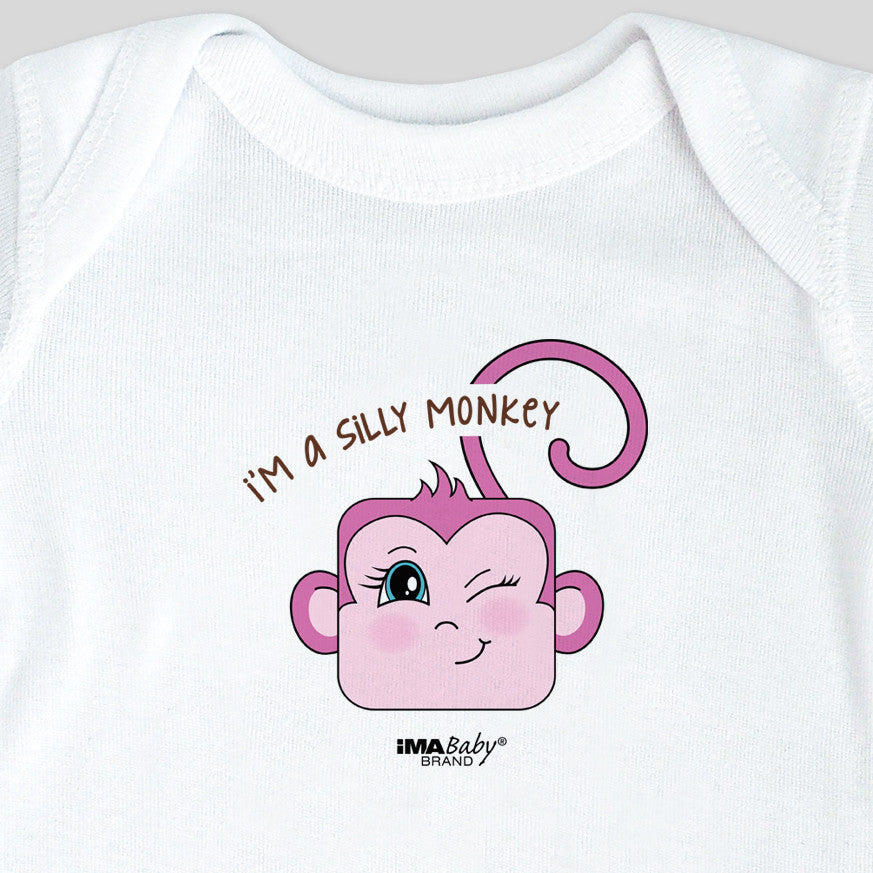 I'm a Silly Monkey Bodysuit & Tee (girl)