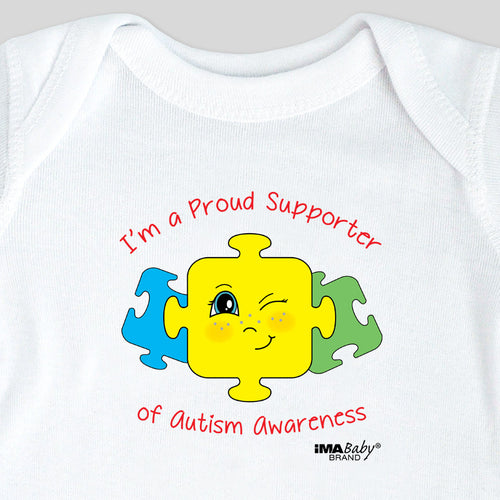 I'm a Supporter of Autism Awareness Bodysuit & Tee (boy)