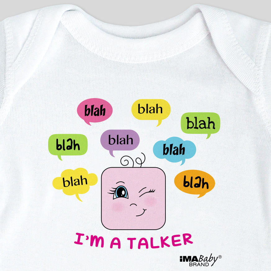 I'm a Talker Bodysuit & Tee (girl)