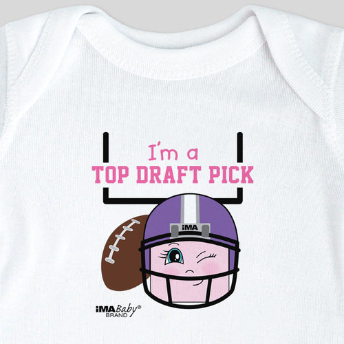 I'm a Top Draft Pick Bodysuit & Tee (girl)