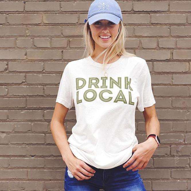 Drink Local - Fall - Oatmeal and Forest Green