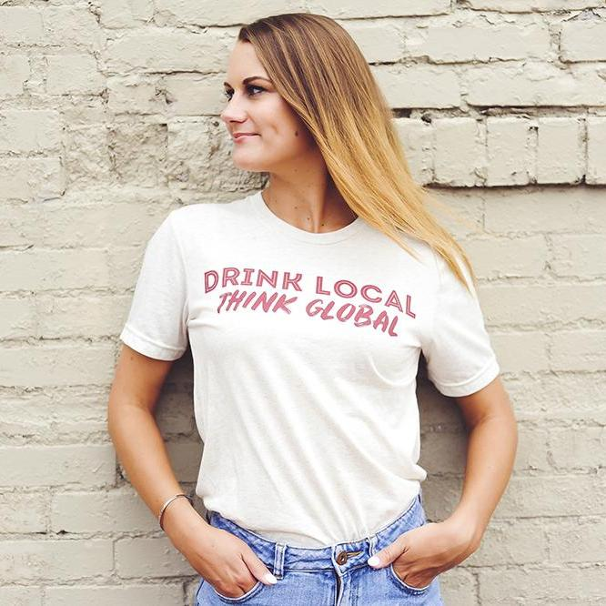 Drink Local Think Global - Fall - Oatmeal and Maroon