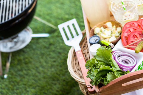grilled food for a backyard picnic