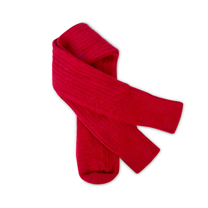 Knee-high alpaca walking socks - Red | Chaussettes de marche hauteur genoux en alpaga - Rouges