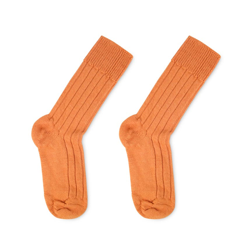 orange alpaca home socks