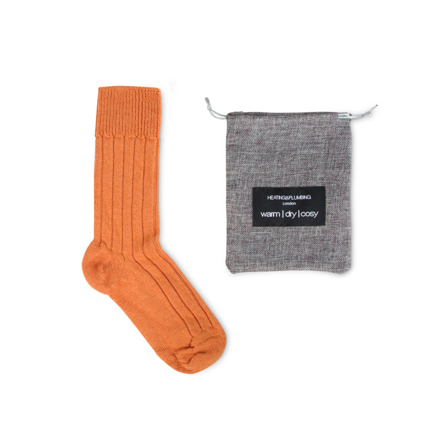 cosy home socks in orange