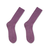 Luxury lounge socks in British alpaca - Plum | Chaussettes Lounge en alpaga - Prune