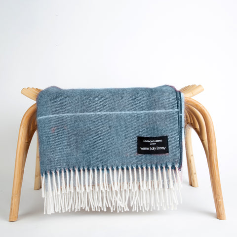 Alpaca throw - Blue