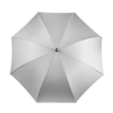 British Umbrella, Wood & Leather - Grey & Charcoal | Parapluie Anglais, Bois & Cuir - Gris & Charbon