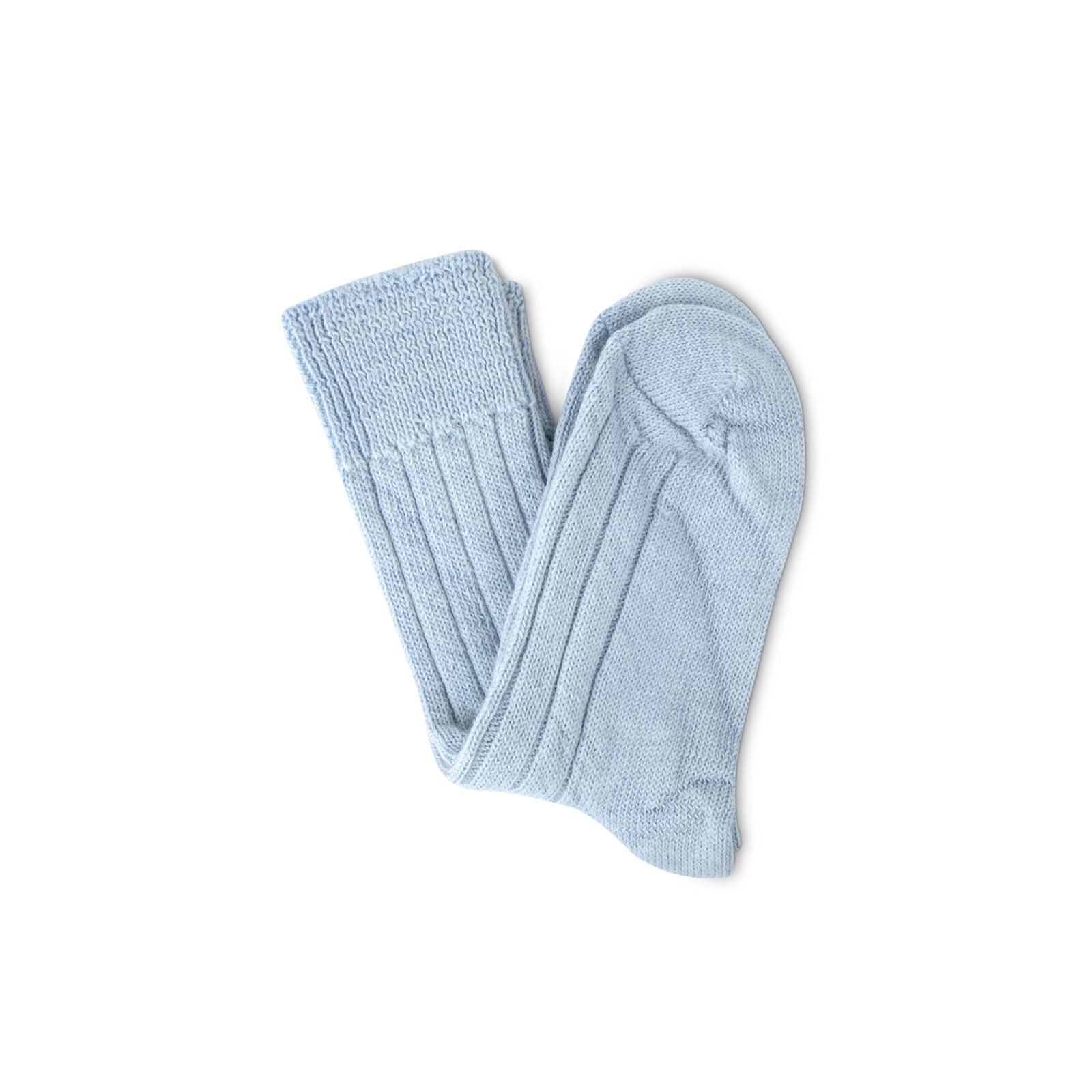 Luxury lounge socks in alpaca - Light Blue | Chaussettes Lounge en alpaga - Bleu