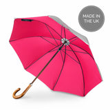 British Umbrella, Beech & Maple - Grey/Pink | Parapluie Anglais, Hêtre & Erable - Gris/Rose