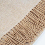 Love Stories - 100% Cashmere Blanket - Light Sand