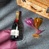 Pure new wool picnic blanket -  Chesil Beach