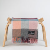 Alpaca throw - Coloured checks