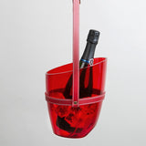 Red transparent wine cooler