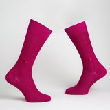 Secret Love Dress Socks - Fuchsia | Chaussettes Secret Love - Fuchsia