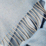 Love Stories - 100% Cashmere Scarf - Sky Blue & Grey