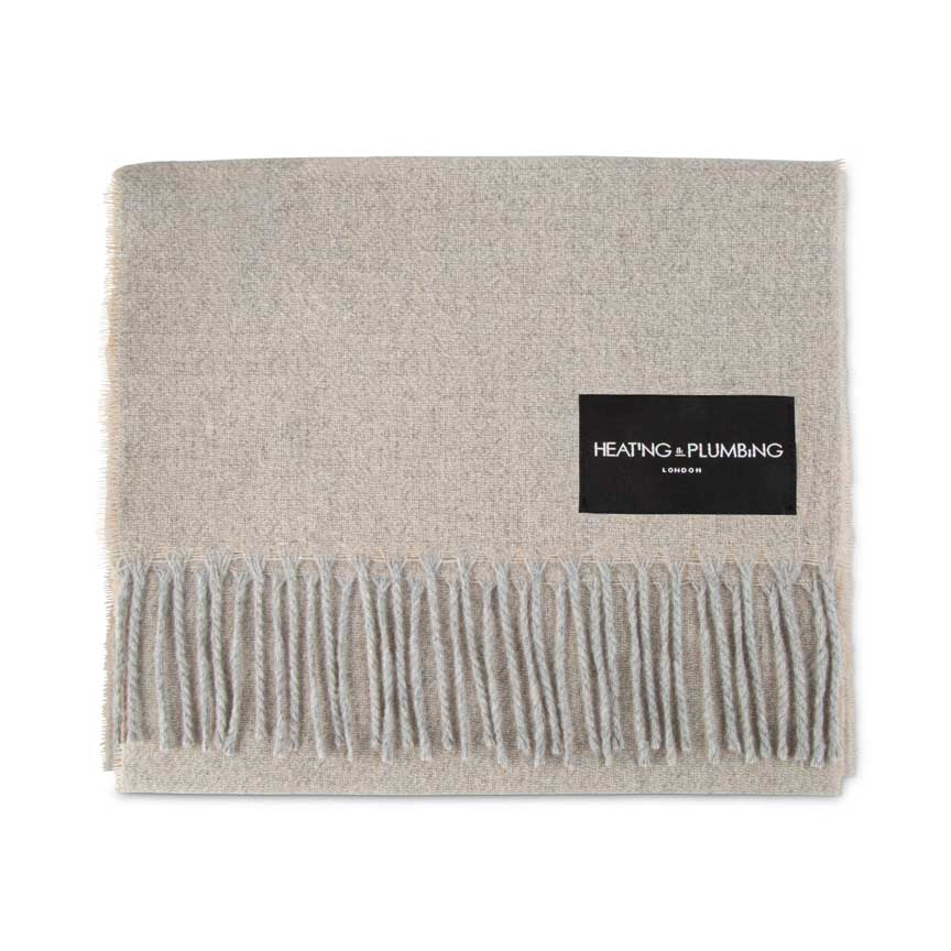 Love Stories - 100% Cashmere Scarf - Stone