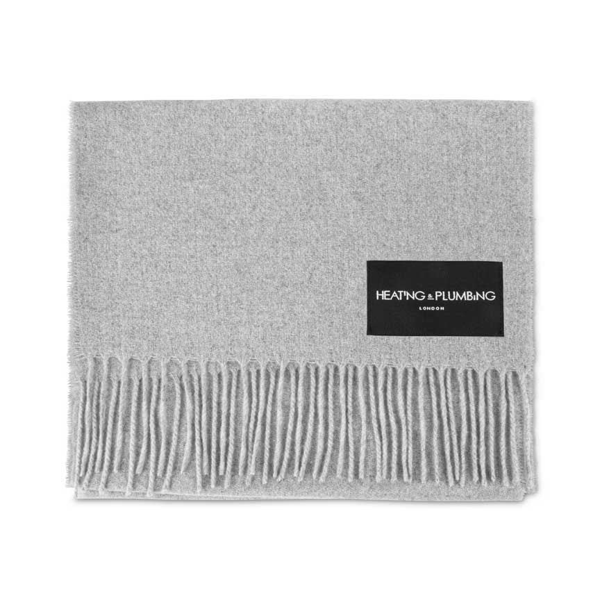 Love Stories - 100% Cashmere Scarf - Light Grey