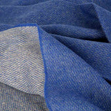 Love Stories - 100% Cashmere Blanket - Cobalt Blue & French Grey Reversible