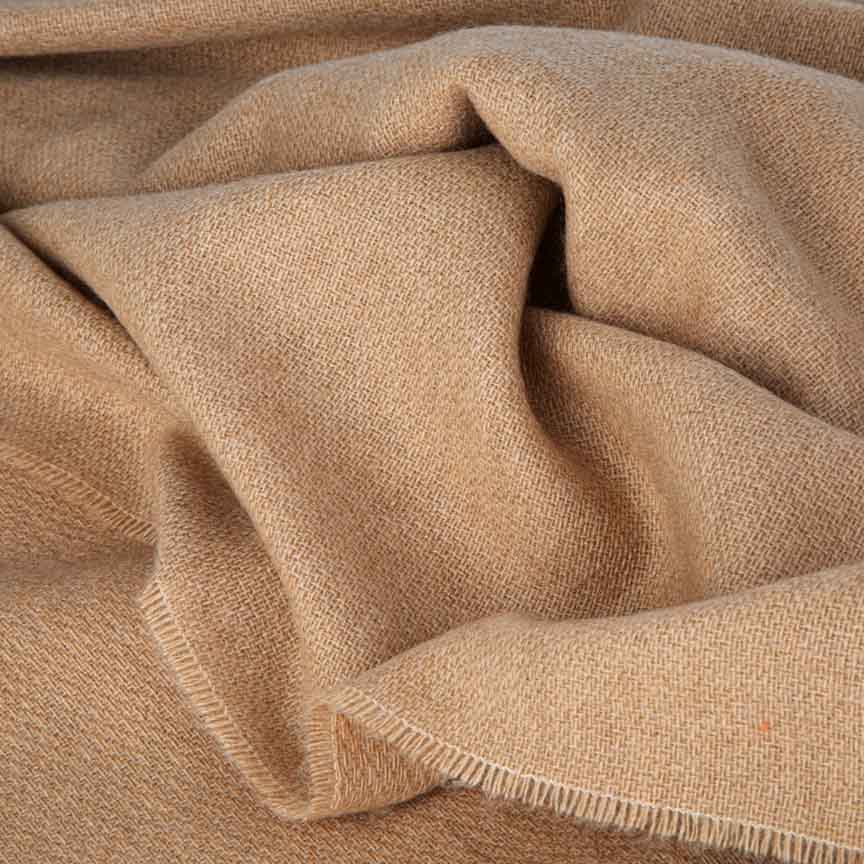 Love Stories - 100% Cashmere Blanket - Toasted Oats